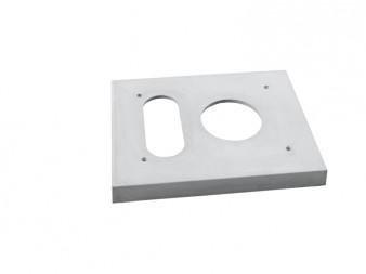 Sklovláknobetonová krycí deska pro zateplení jednoprůduchová s větrací šachtou KSDZ.1V
